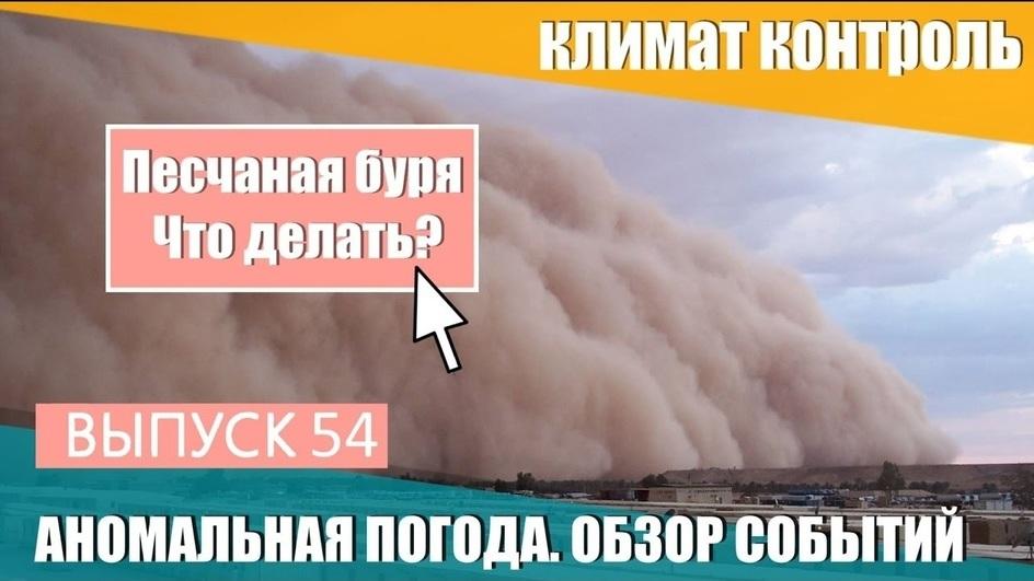 Аномальная погода. Песчаная буря. Что делать? Климатический обзор недели 11 - 17 марта. Выпуск 54